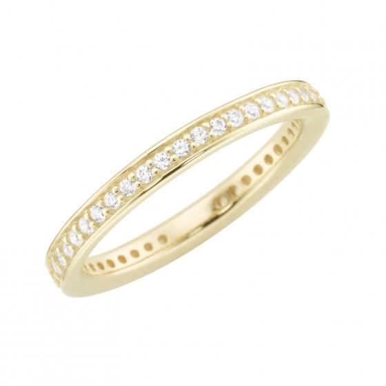 Karat 93012040540 Ring Damen 375/- Gelb-Gold Zirkonia Weiss Gr. 54