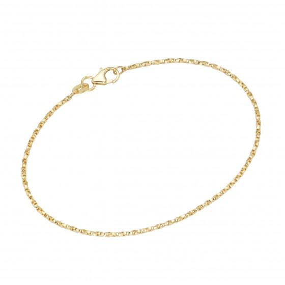 Karat 92016540190 Armband Fantasiekette Gedreht Massiv 375/- Gelb-Gold