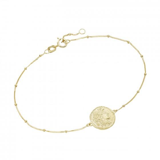Karat 92019640190 Armband Plättchen Münzen-Optik 375/- Gelb-Gold
