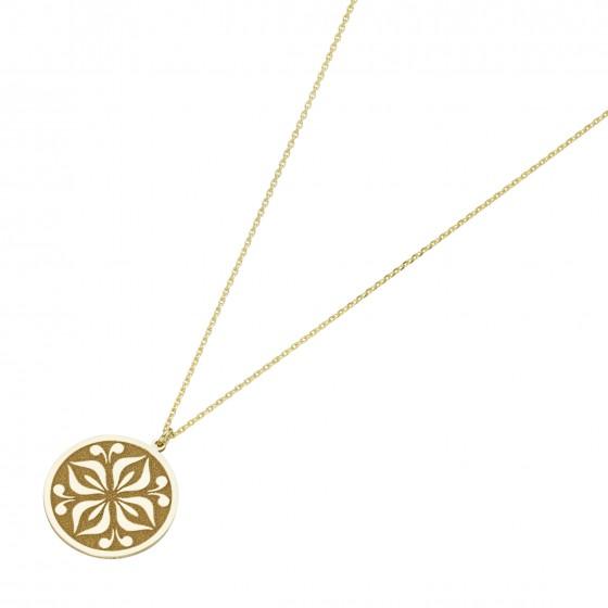 Karat 99049640450 Halskette mit Anhänger Coin Ornament 375/- Gelb-Gold