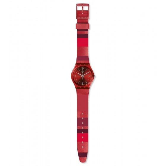 Swatch GR406 Armband-Uhr Ruberalda Analog Quarz Silikon-Armband