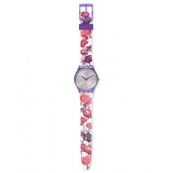 Swatch GV135 Armband-Uhr Sweet Garden Analog Quarz mit Silikon-Band