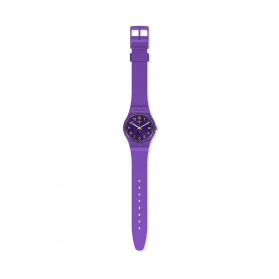 Swatch GV402 Armband-Uhr Purplazing Analog Quarz mit Silikon-Band