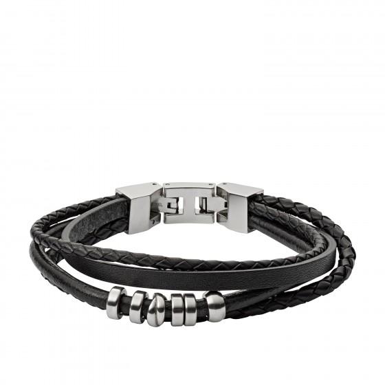 Fossil JF03183040 Armband Herren Vintage Casual Edelstahl Leder