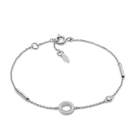 Fossil JFS00474040 Armband Damen Open Disc Sterling-Silber