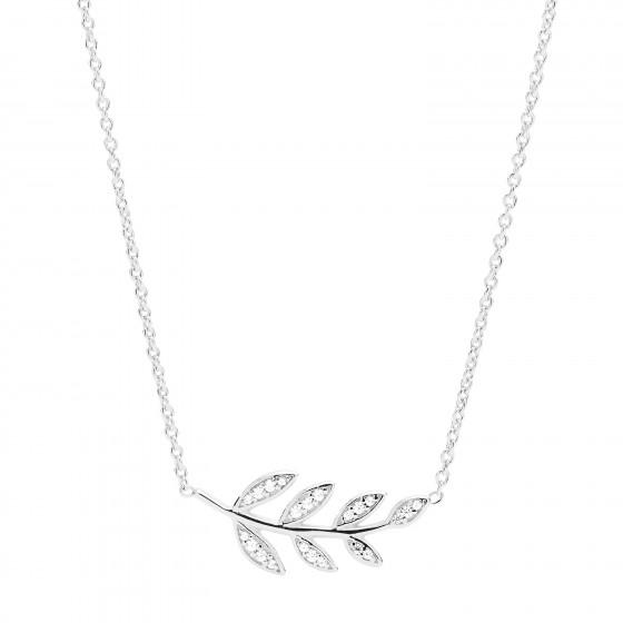 Fossil JFS00485040 Kette mit Anhänger Damen Olive Branch Sterling-Silber