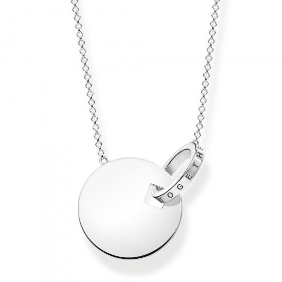 Thomasn Sabo KE1948-637-21 Halskette-Anhänger Together Coin-Ring Silber