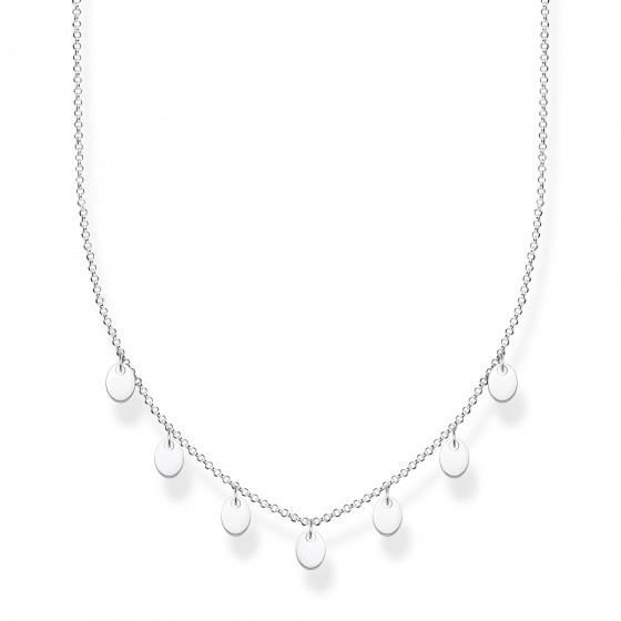 Thomas Sabo KE1962-001-21 Halskette mit Anhänger Damen Coins Silber