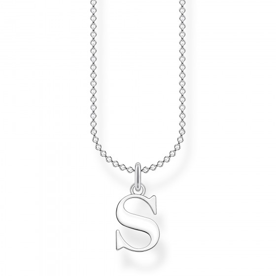Thomas Sabo KE2028-001-21 Halskette mit Anhänger Buchstabe S Sterling-Silber