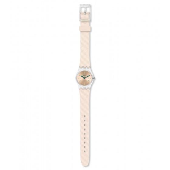 Swatch LK372 Damen-Uhr Quadretten Pastell Analog Quarz mit Silikon-Band