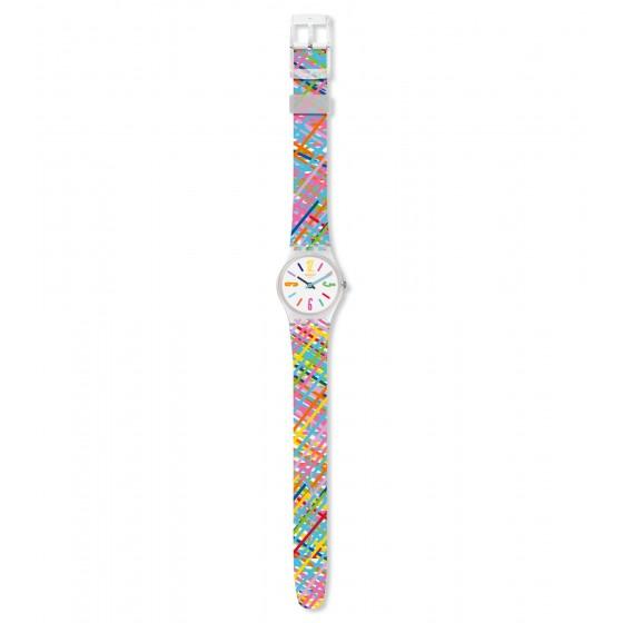 Swatch LK389 Armbanduhr Tadelakt Quarz Silikon Armband