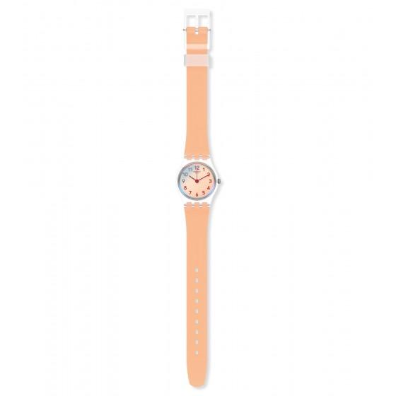 Swatch LK395 Armband-Uhr Casual Pink Analog Quarz mit Silikon-Band