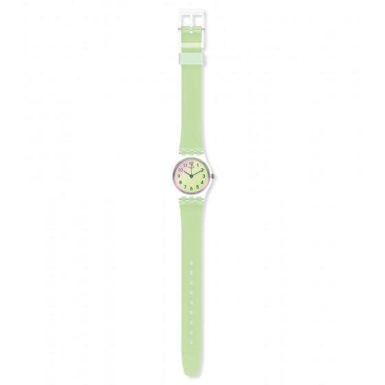 Swatch LK397 Armband-Uhr Casual Green Analog Quarz mit Silikon-Band