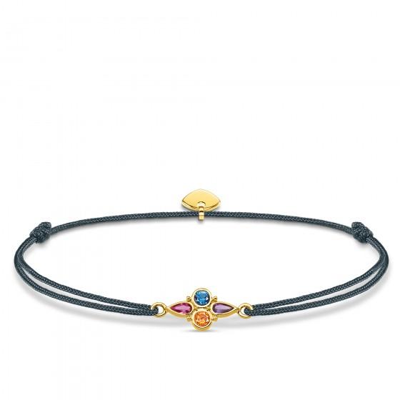 Thomas Sabo LS076-300-7 Armband Little Secret Farbige Steine Gold-Ton