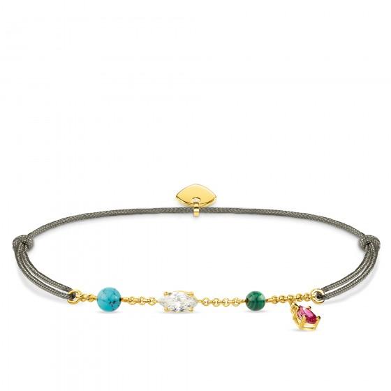 Thomas Sabo LS080-995-7 Armband Little Secret Farbige Steine Gold-Ton