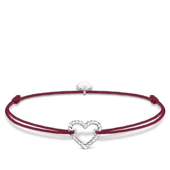 Thomas Sabo LS113-173-10 Armband Little Secret Herz Kordeloptik Silber