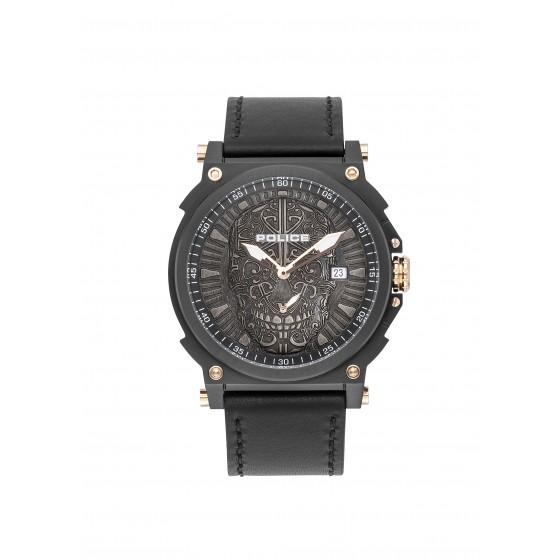 Police PL.15728JSB/02 Herren-Uhr Compass Multifunktion Quarz Leder-Armband