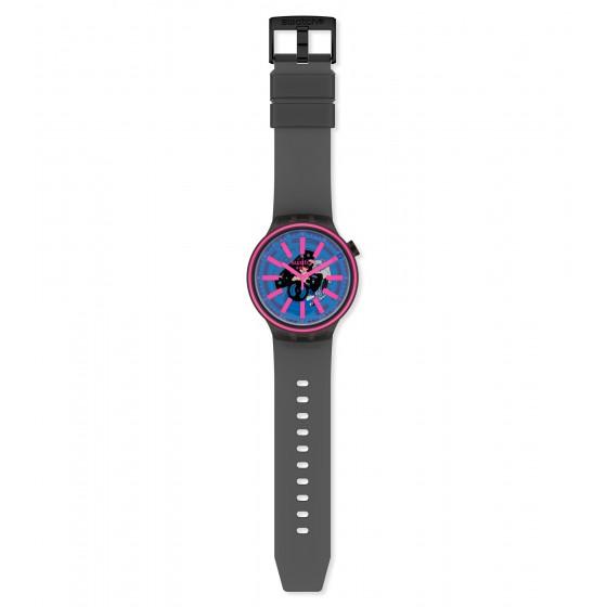 Swatch SO27B111 Armband-Uhr Blue Taste Analog Quarz Silikon-Armband