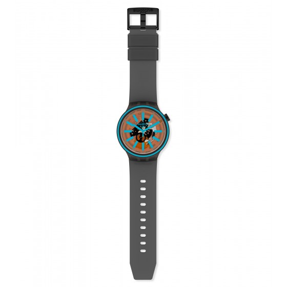 Swatch SO27B112 Armband-Uhr Fire Taste Analog Quarz Silikon-Armband