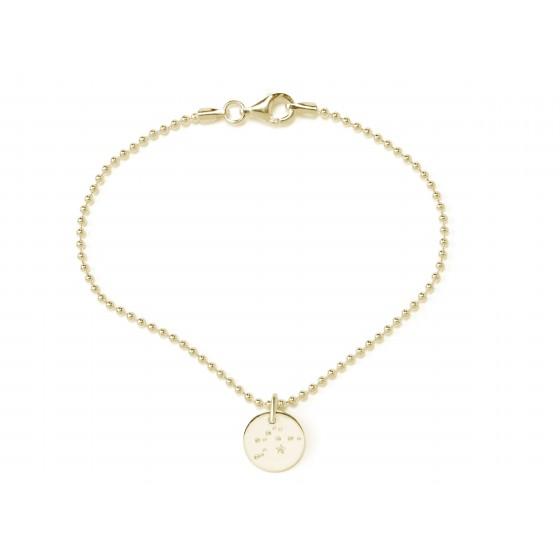 Beka & Bell 5011G Armband Soli Sternzeichen Ø 10 mm Silber Gold