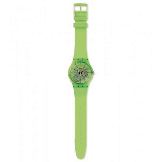 Swatch SUOG118 Armband-Uhr Kiwi Vibes Analog Quarz Silikon-Armband