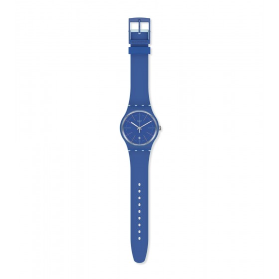 Swatch SUOS403 Armband-Uhr Blue Layered Analog Quarz mit Silikon-Band