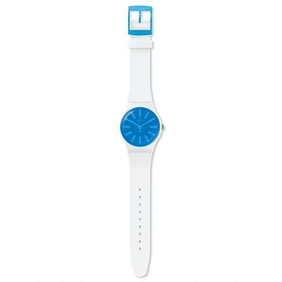 Swatch SUOW163 Armbanduhr Glaceon Analog Quarz Silikon Armband Ø 41,00 mm