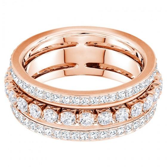Swarovski Ring Damen Further Weiss Rosé Vergoldung