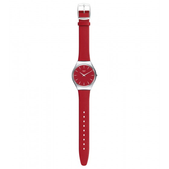 Swatch SYXS119 Armbanduhr Skinrossa Quarz Leder Armband Ø 38,00 mm