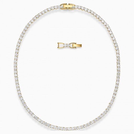 Swarovski 5511545 Collier Halskette Damen Tennis Deluxe Weiss Vergoldet
