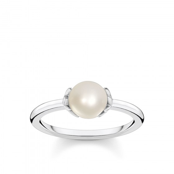 Thomas Sabo TR2298-167-14 Ring Damen Perle mit Sternen Silber