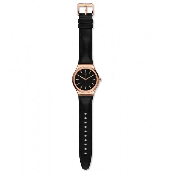 Swatch YIG400 Armbanduhr Sistem Rose Automatik mit Leder Armband Ø 42,00 mm