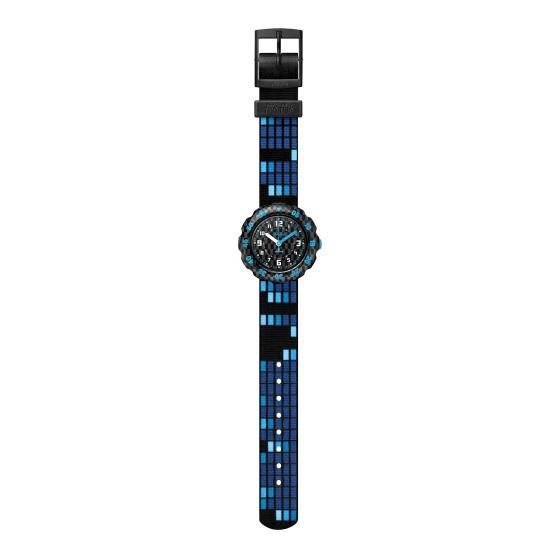 FlikFlak FPSP036 Jungen-Uhr Square 2.0 Analog Quarz Textil-Armband