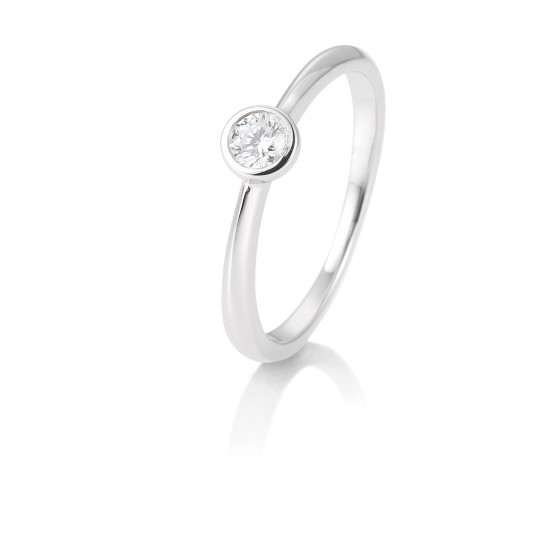 Breuning 41/85128-6 Ring Brillant 0,15 ct W-si 14 kt Weissgold