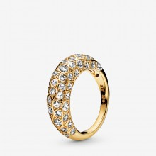 Pandora Shine 168290CZ Ring Damen Sparkling Pattern Silber Vergoldet