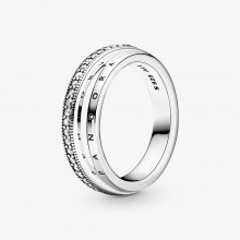Pandora 199040C01 Ring Damen Pavé Dreifach Silber