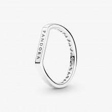 Pandora 199048C00 Ring Damen Stacking mit Logo Silber