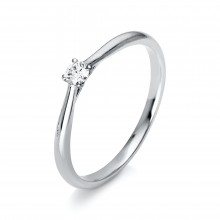 Diamond Group 1A287W4 Ring 4er-Krappe Brillant 0,10 ct 14 kt WG