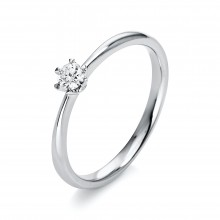 Diamond Group 1C478W452 Ring Brillant 0,15 ct TW-si 14 kt Weissgold Gr. 52
