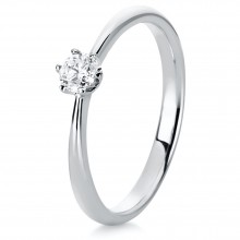 Diamond Group 1C480W456 Ring Brillant 0,20 ct TW-si 14 kt Weissgold Gr. 56