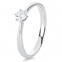 Diamond Group 1C481W456 Ring Brillant 0,25 ct TW-si 14 kt Weissgold Gr. 56