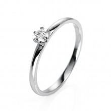 Diamond Group 1O322W454 Ring Brillant 0,15 ct TW-si 14 kt Weissgold Gr. 54