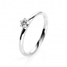 Diamond Group 1O323W454 Ring Brillant 0,20 ct TW-si 14 kt Weissgold Gr. 54