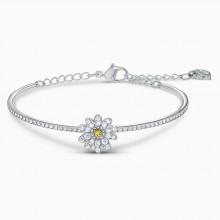 Swarovski 5542012 Armband Armreif Damen Eternal Flower Gelb Weiss Silber-Ton
