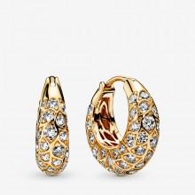 Pandora Shine 268318CZ Ohrringe Creolen Sparkling Pattern Silber Vergoldet