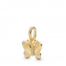 Pandora Shine 367962CZ Anhänger Decorative Butterfly Silber-Gold 18K