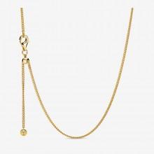Pandora Shine 368283 Kette Damen Curb Chain Silber Vergoldet 60 cm