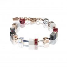 Coeur de Lion 4013/30-0300 Armband GeoCUBE® Swarovski® Kristalle Roségold Rot