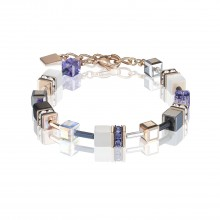 Coeur de Lion 4013/30-0800 Armband Damen GeoCUBE® Swarovski® Kristalle Lila