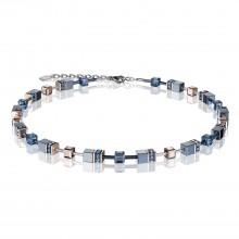 Coeur de Lion 4015/10-0735 Halskette GeoCUBE® Montana Swarovski® Kristalle Edelstahl Silber